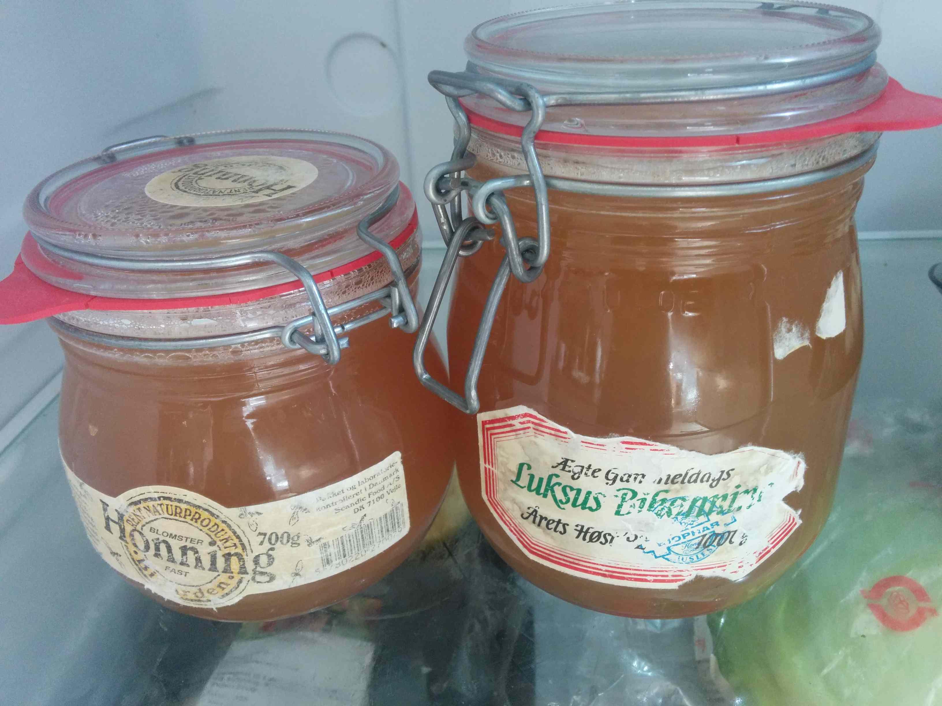 Honningblanding i patentglas