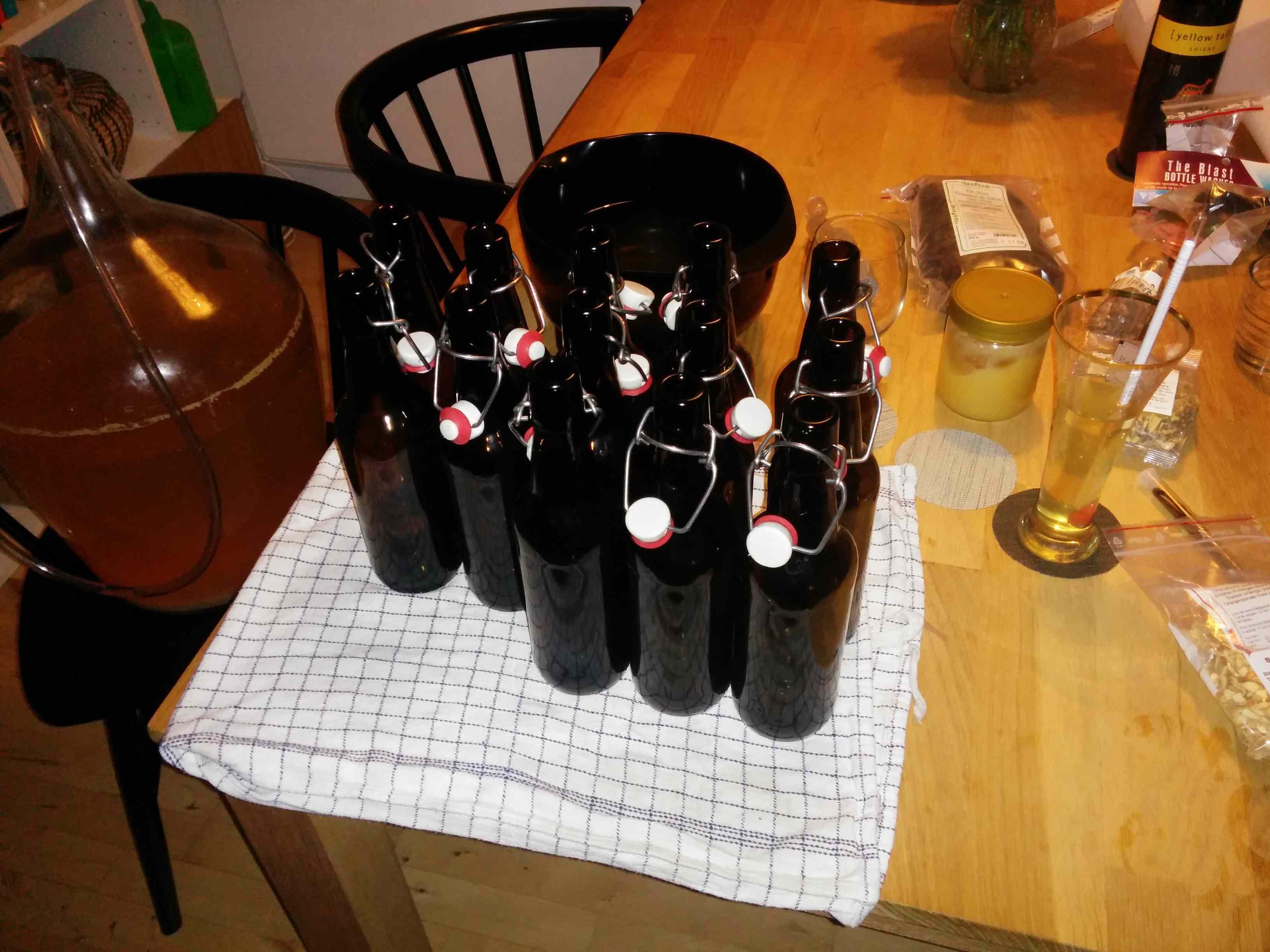 Rensede flasker
